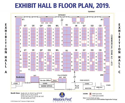 Exhibitor Booth Floor Plan (Nov. 30, 2018) —Click for full size
