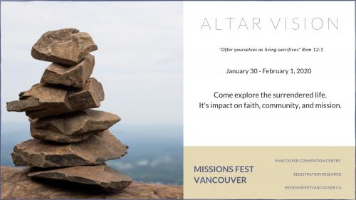 "Altar Vision: ""Offer yourselves as living sacrifices"""